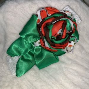 Other - Handmade kelly green, brown, and orange headband